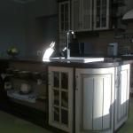 Патинированные фасады как основной дизайнерский элемент интерьера кухни